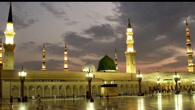 Al-Masjid-an-Nabawi-or-the-Prophet-Muhammad's-Mosque-in-the-holy-city-of-Medina